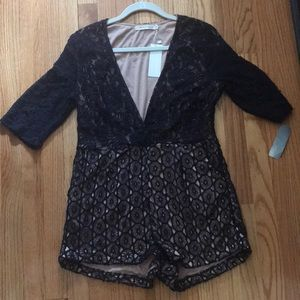 Other - Lace navy blue/black Romper purchased from FOX's